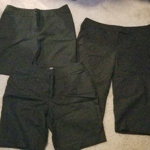 3 Apt 9 Black Bermuda Shorts and Capri - Size 12